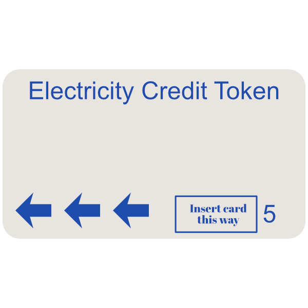 electricity token blue