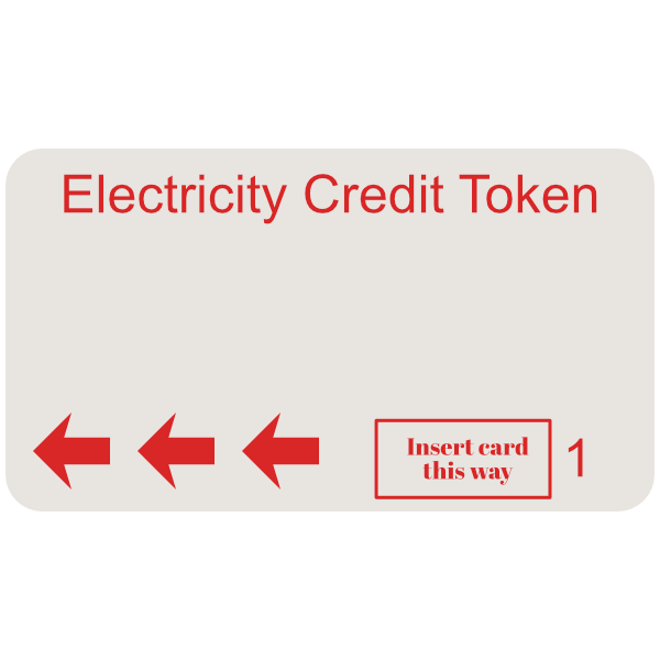 electricity token red