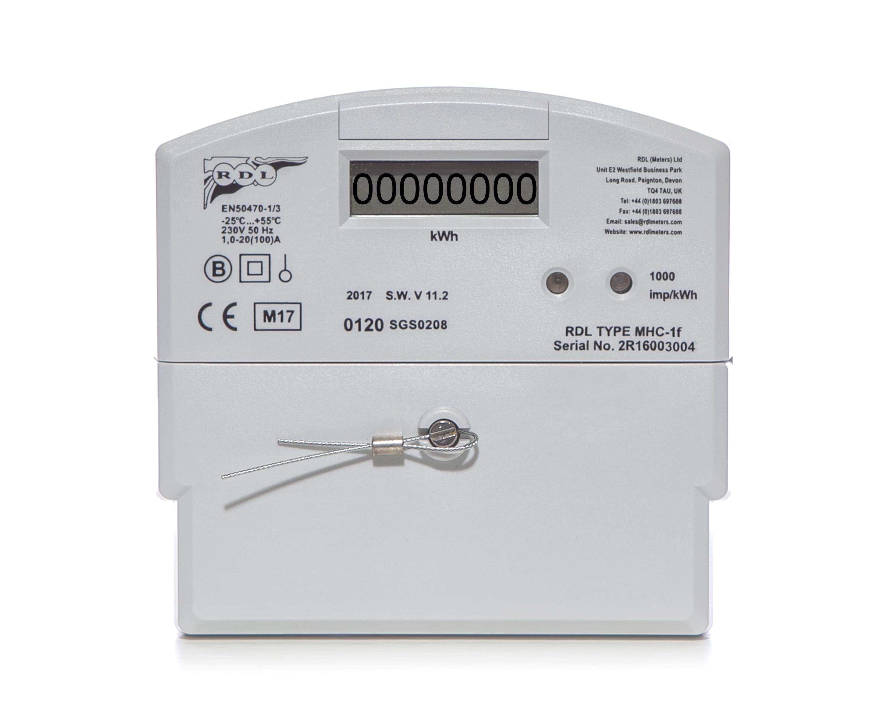 MHC-1f Single Phase Credit Meter